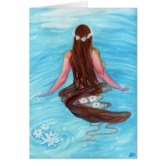 Mermaid hair fell in waves GREETING CARD