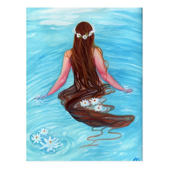 Mermaid hair fell in waves POSTCARD