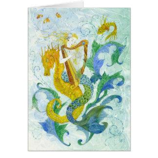 Mermaid Harpist Card