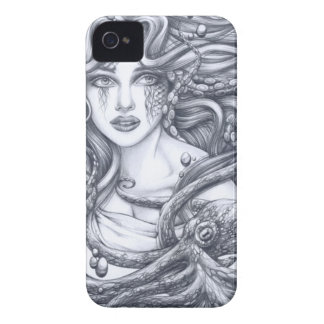 Mermaid & Her Octopus iPhone 4 Case