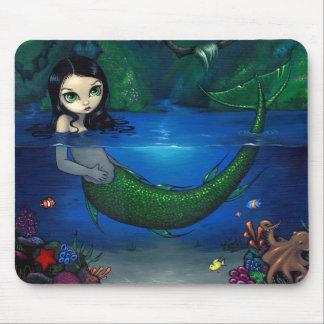 """Mermaid in Her Grotto"" Mousepad"