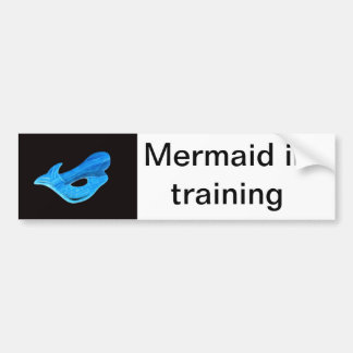 mermaid in training bumper sticker