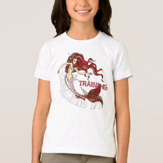 Mermaid in Training, children (redhead) T-Shirt