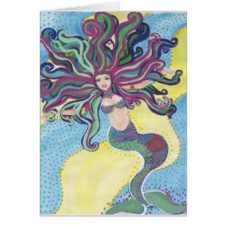 mermaid joywater greeting card