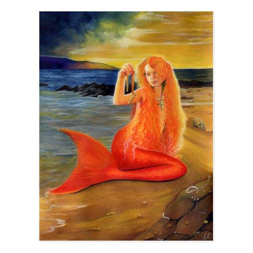 Mermaid Key Sunset Postcard