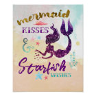 Mermaid Kisses Starfish Wishes Poster