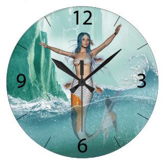 Mermaid Large Clock