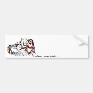 Mermaid Laurel - Mermaid School -  CricketDiane Bumper Sticker