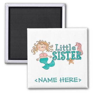Mermaid Little Sister Square Magnet