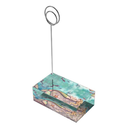 Mermaid Lullaby Baby Shower Table Card Holder