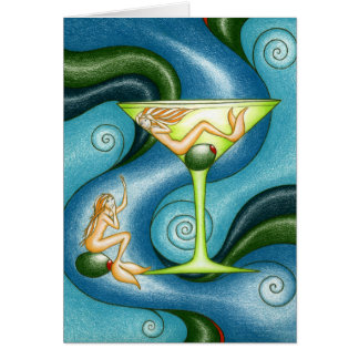 Mermaid Martini Card