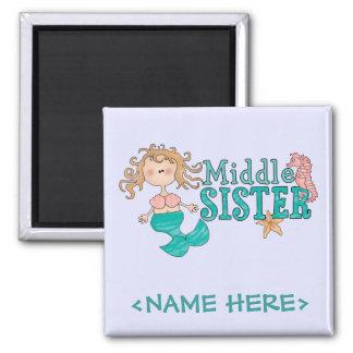 Mermaid Middle Sister Fridge Magnets