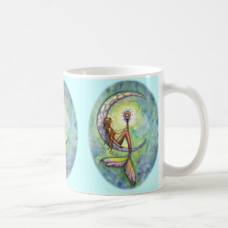 Mermaid Moon Coffee Mug by Molly Harrison