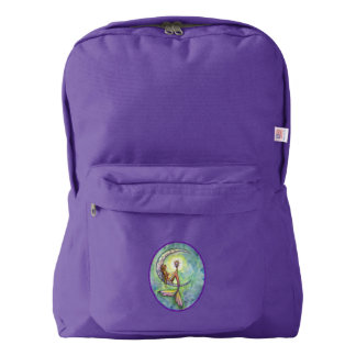 Mermaid Moon Mystical Fantasy Art Backpack