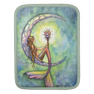 Mermaid Moon Watercolor Mermaid Molly Harrison Art iPad Sleeves