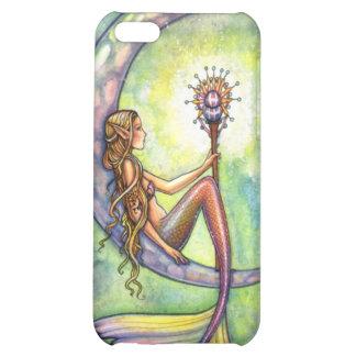 Mermaid Moon Watercolor Mermaid Molly Harrison Art iPhone 5C Covers