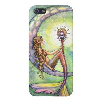 Mermaid Moon Watercolor Mermaid Molly Harrison Art iPhone 5 Case
