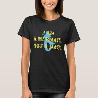 mermaid not maid womens t-shirt