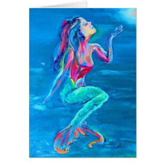 Mermaid note card