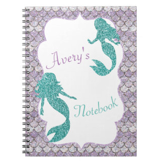 Mermaid notebook, school notebook