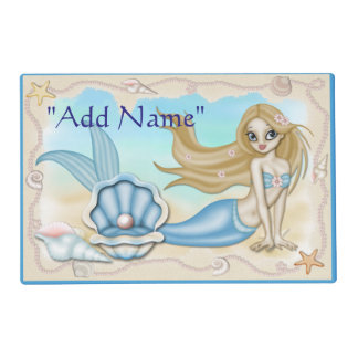 Mermaid Ocean Sea Laminated Placemat Artmat