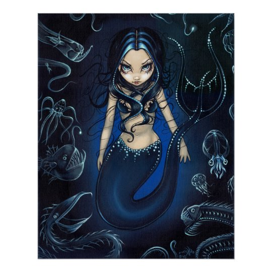 Mermaid of the Deep ART PRINT abyssal zone