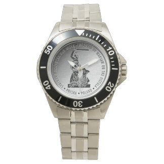 Mermaid of Warsaw in Silver Medalion - Watch