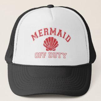 Mermaid Off Duty Distressed Vintage Trucker Hat