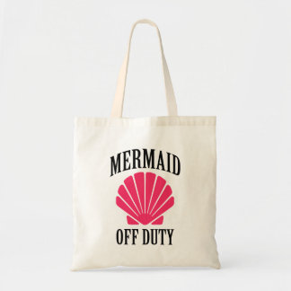Mermaid Off Duty funny Pink seashell bag