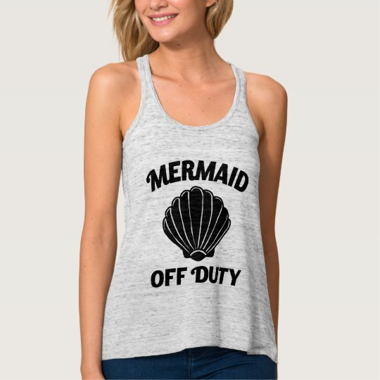 Mermaid off duty funny women's tank top