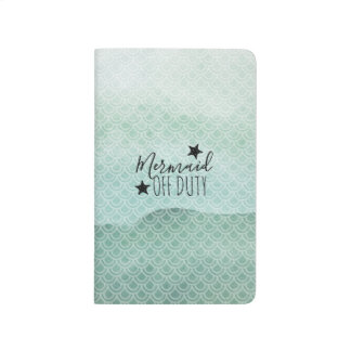 Mermaid Off Duty Green Watercolor Scales Journal