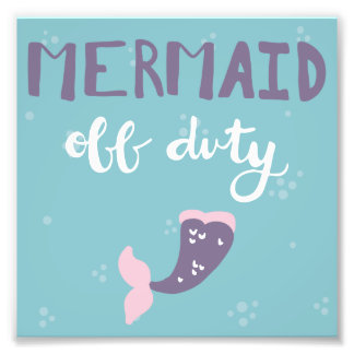 Mermaid Off Duty Photo Print