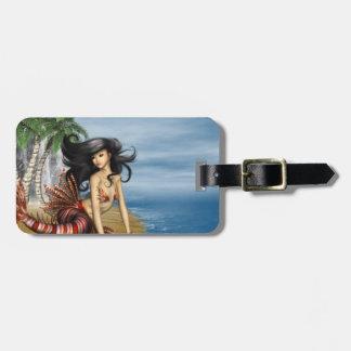 Mermaid on Beach Luggage Tag
