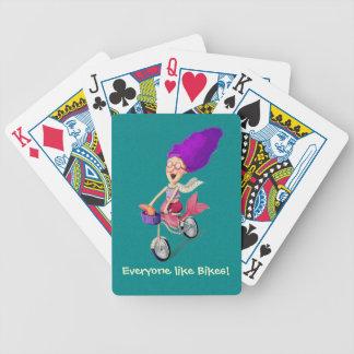 Mermaid on Bike Bicycle Playing Cards