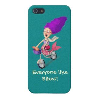 Mermaid on Bike iPhone 5/5S Covers