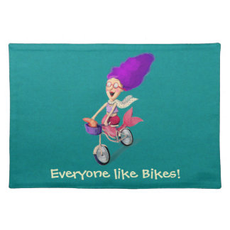 Mermaid on Bike Placemat