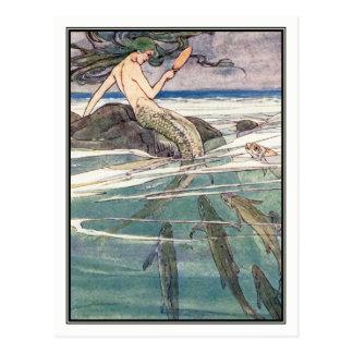 Mermaid on Marooners' Rock by Alice B. Woodward Postcard