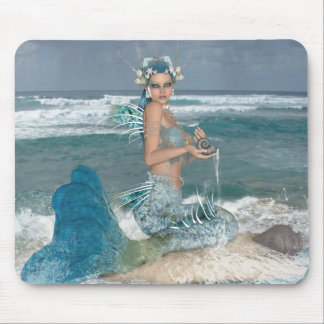 Mermaid on Rock Mouse Mat