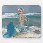 Mermaid on Rock Mousepad