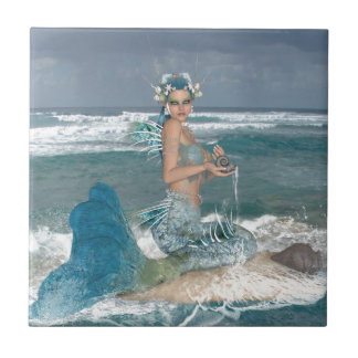 Mermaid on Rock Tile