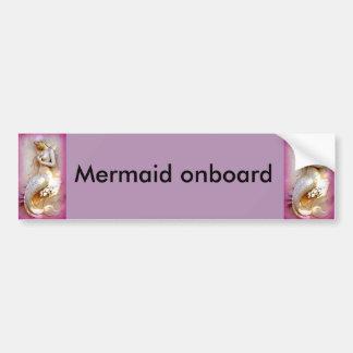 mermaid onboard lavender bumper sticker