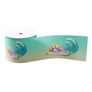 mermaid owl - ribbon grosgrain ribbon