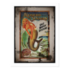 Mermaid Oyster Girl Postcard