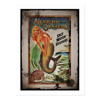 Mermaid Oyster Girl Postcard