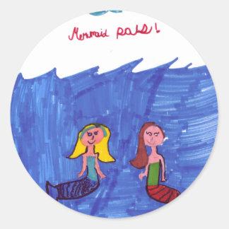 Mermaid Pals Round Stickers