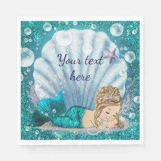 Mermaid Paper Napkins Disposable Napkin