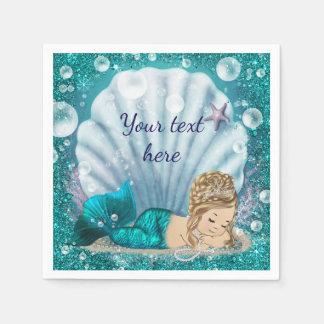 Mermaid Paper Napkins Disposable Serviette