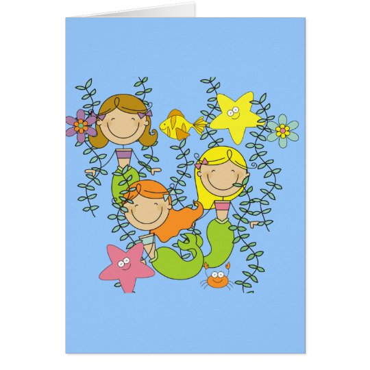 Mermaid Party Card