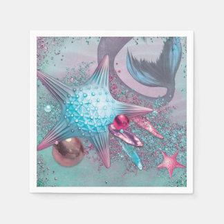 Mermaid Party Napkins Disposable Serviette