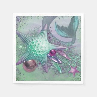 Mermaid Party Napkins Disposable Serviettes